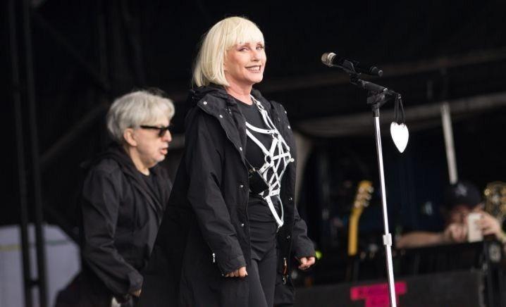 Blondie plays to the Glastonbury 2014 audience