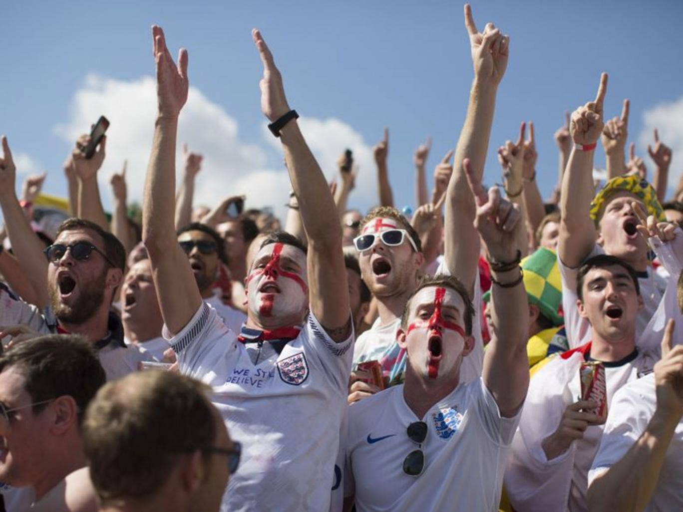 England fans remain in good spirits, even after a terminal 0-0 draw against Costa Rica