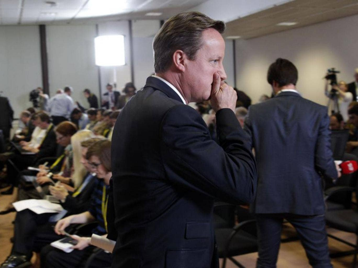 Harder job: The Prime Minister has been clear that he wants Britain to stay in the EU