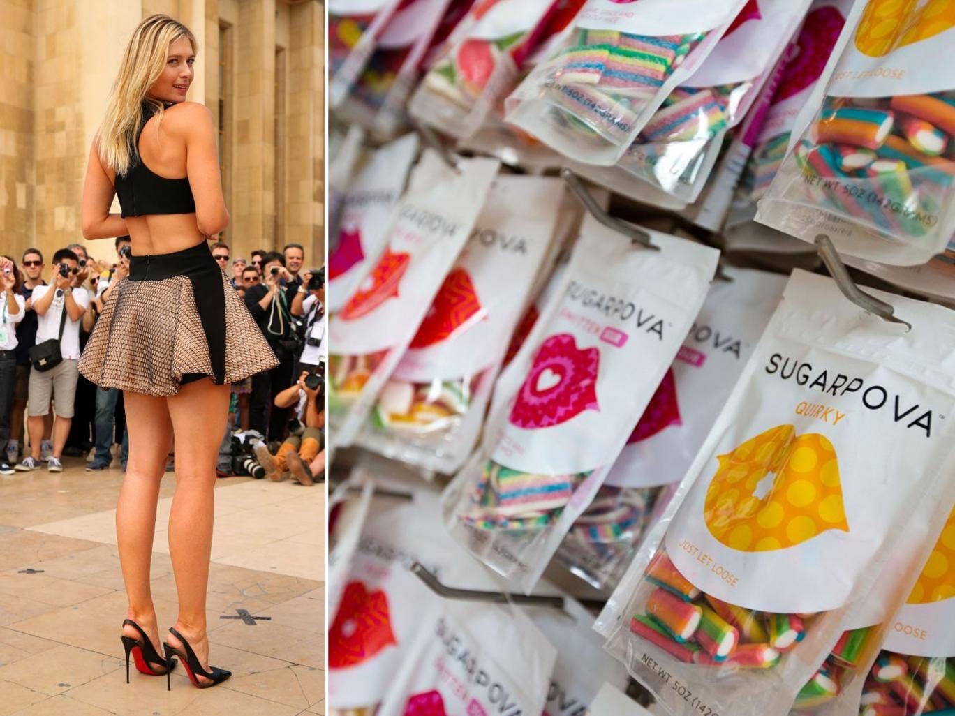 Love all: Fans fall for candy in the Sugarpova Candy Lounge, in Wimbledon for the duration of the tennis championships