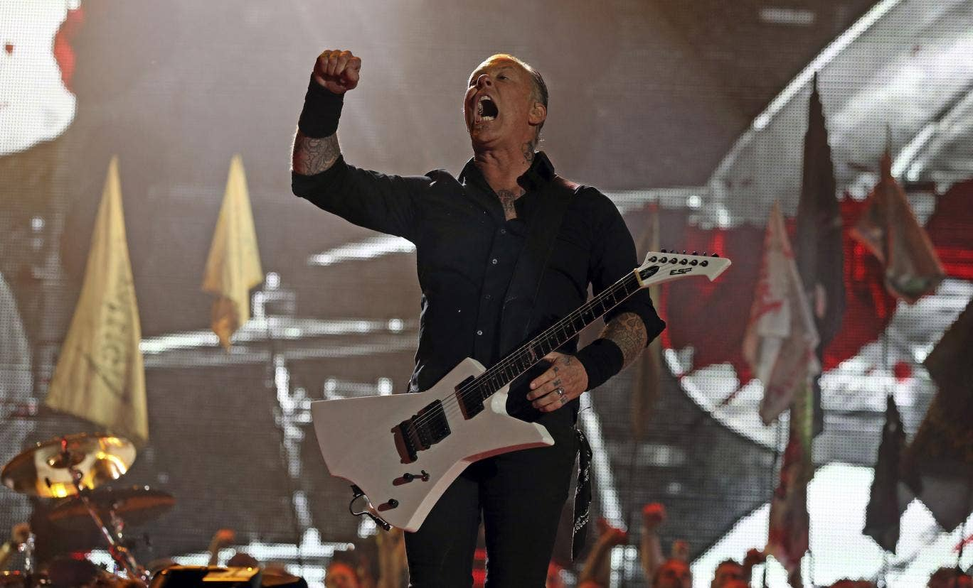Metallica on the Pyramid Stage at Glastonbury 2014