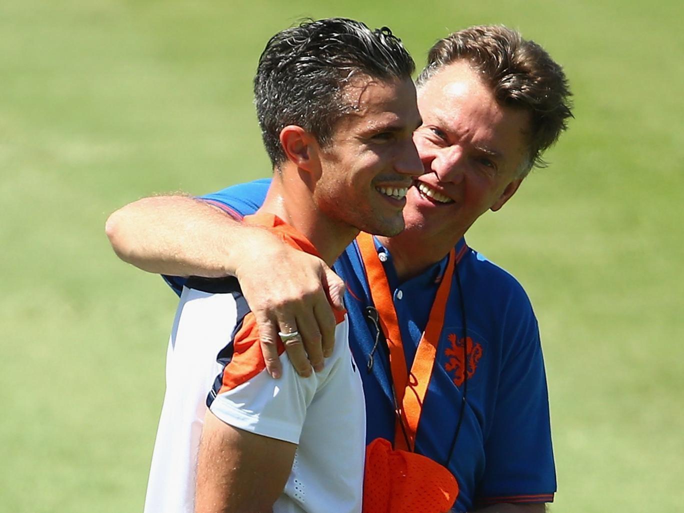 Robin van Persie together with Louis van Gaal
