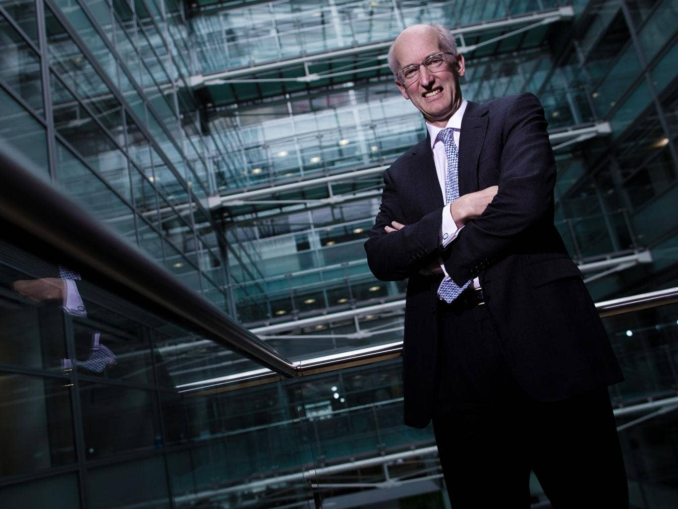 David Higgins, at the HS2 offices in Victoria, has a track record on delivering expensive, controversial projects