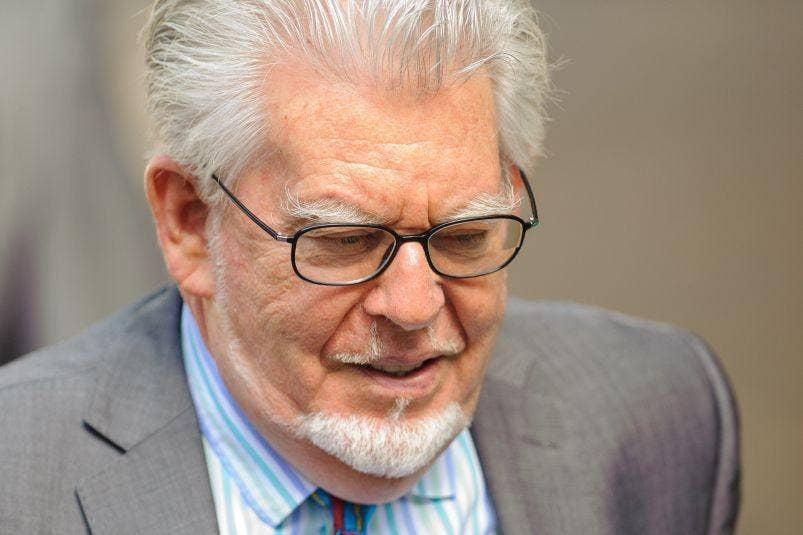 Rolf Harris at Southwark Crown Court on 30 June 2014 when he was founbd guilty of all 12 charges of indecent assault against four girls.
