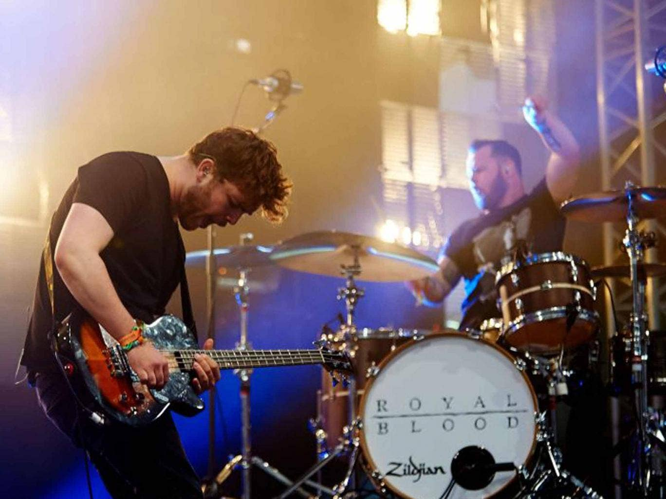 Fired up: Mike Kerr and Ben Thatcher of Royal Blood