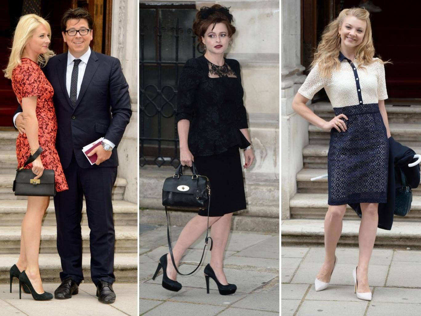 Michael McIntyre with his wife, Kitty; Helena Bonham Carter; and Natalie Dormer