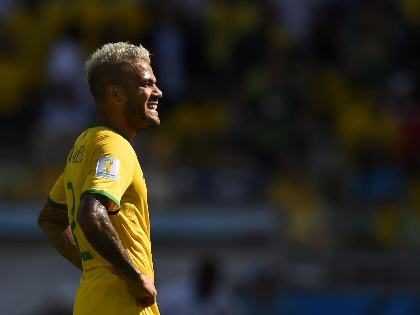 Dani Alves in action for Brazil