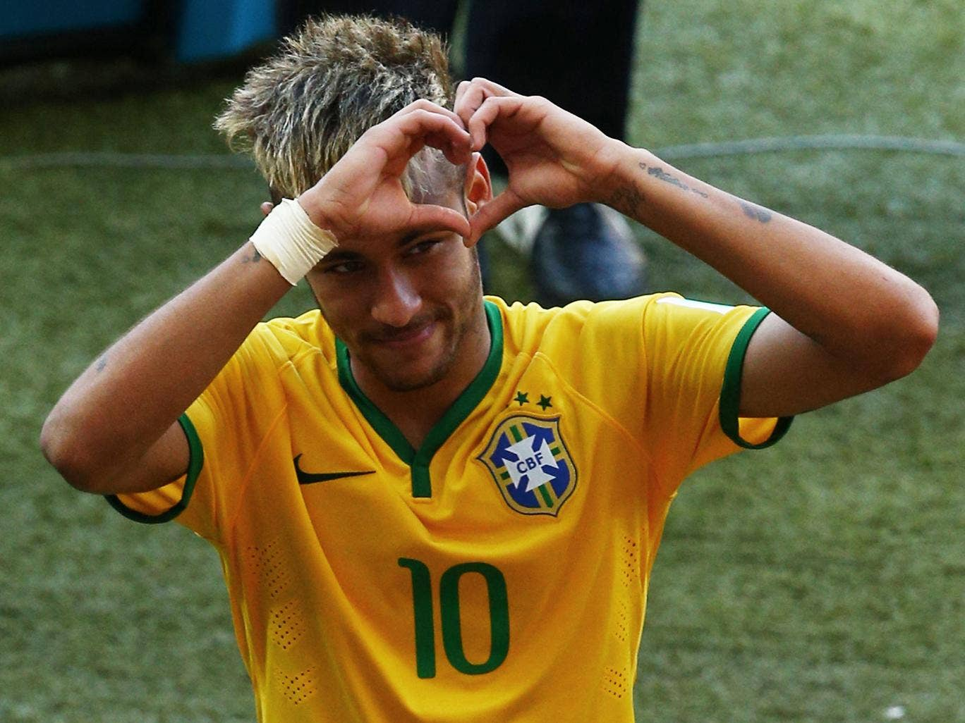 Neymar pictured after Brazil's victory over Chile
