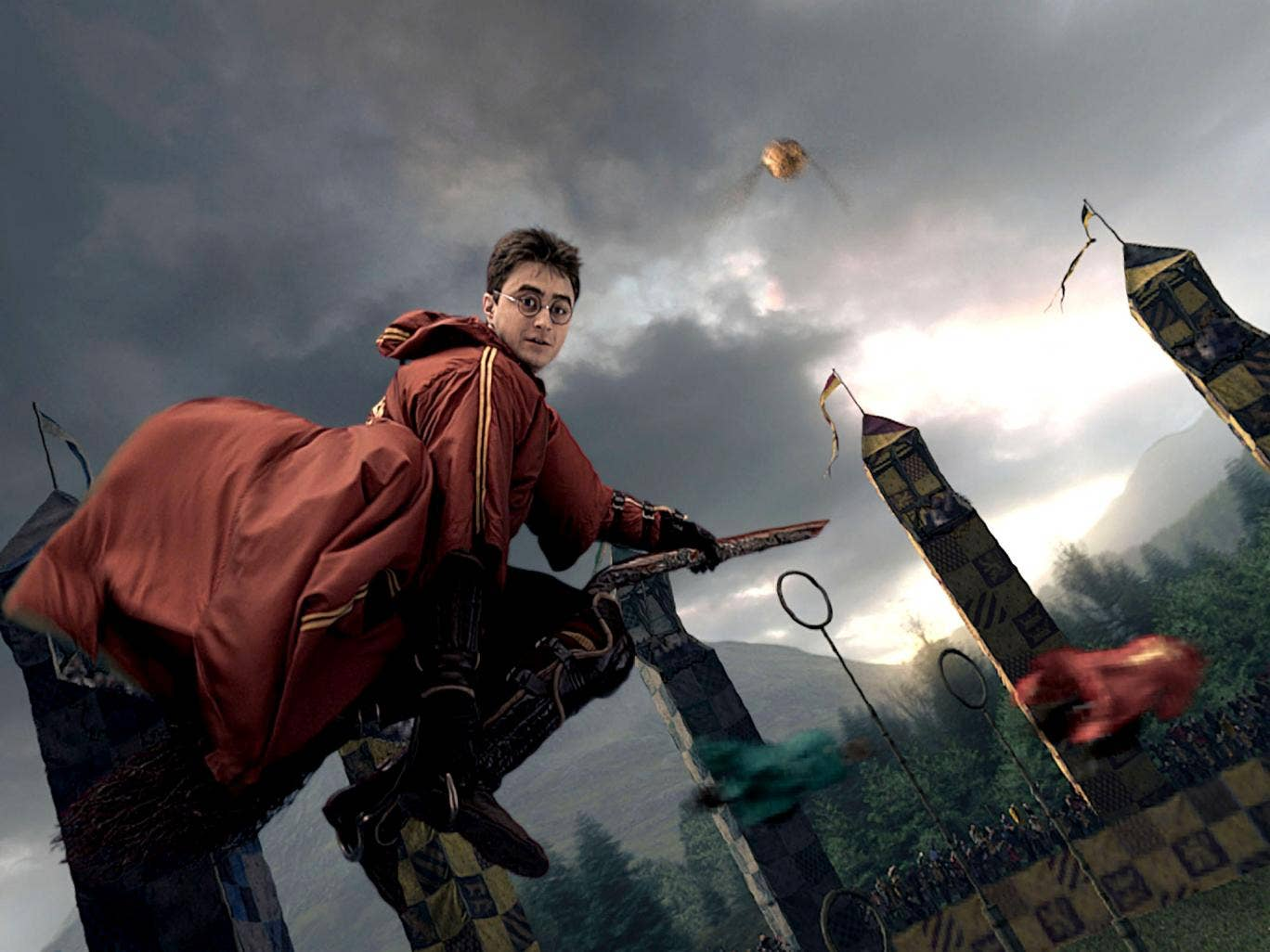 Quidditch as seen in the Harry Potter movies