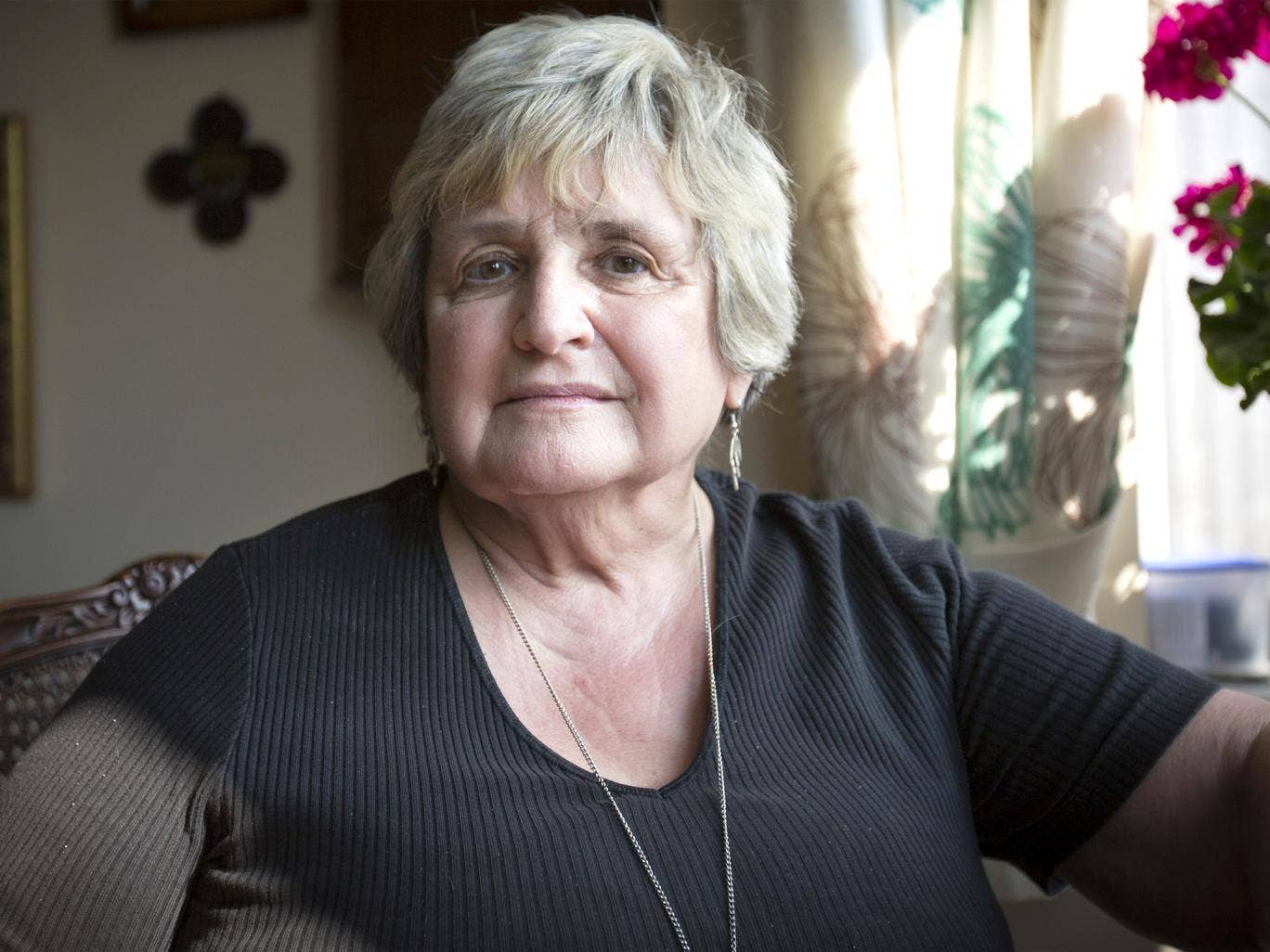 Dementia patient Shelagh Robinson at her home near Crewe