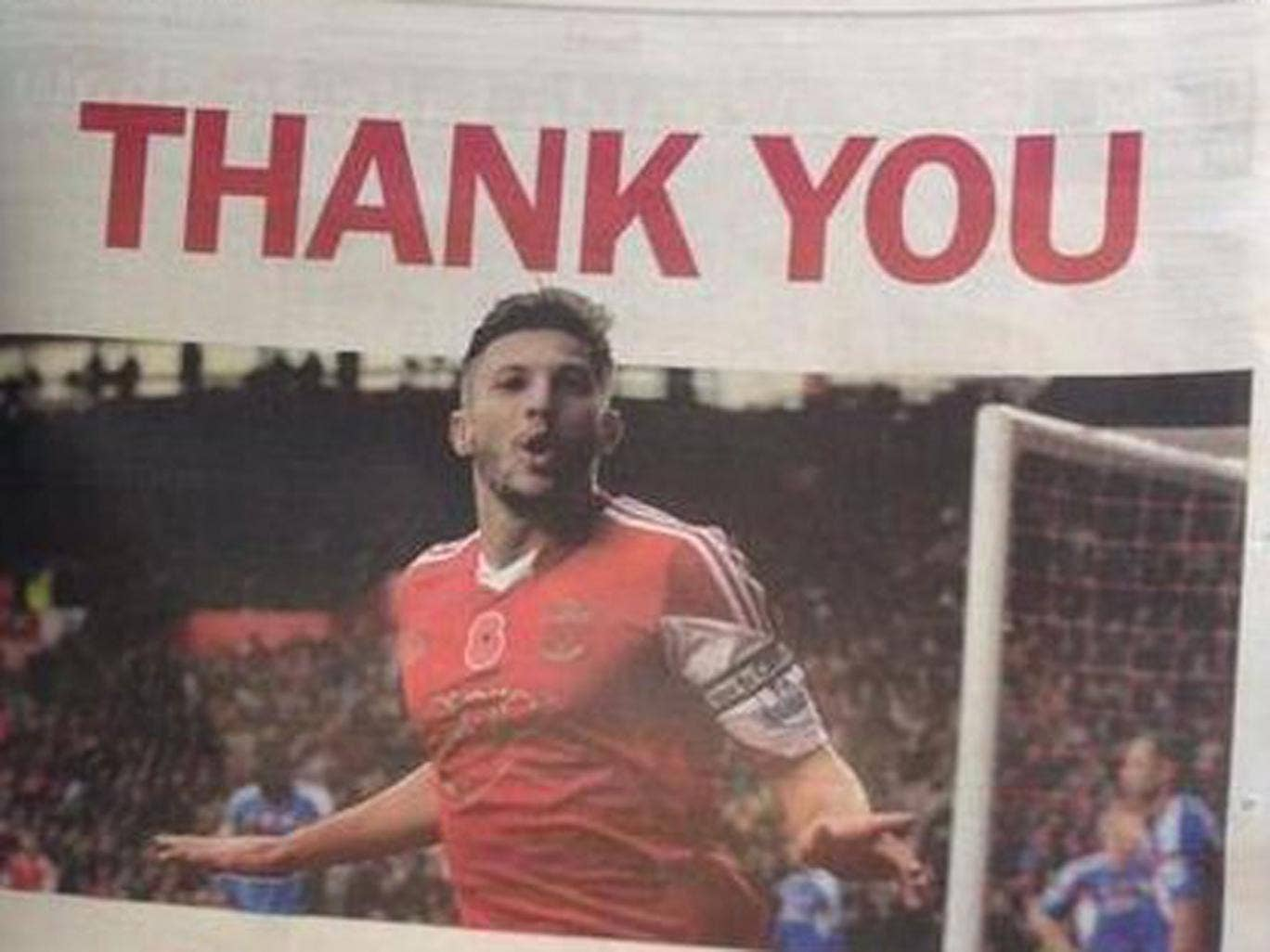 Liverpool new boy Adam Lallana has taken out a full page advert in the Daily Echo to say thank you to Southampton fans