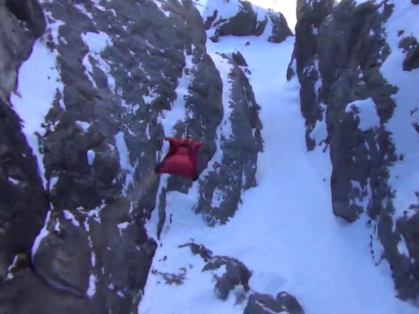 Late wingsuit pilot Brian Drake's final flight through the Alps