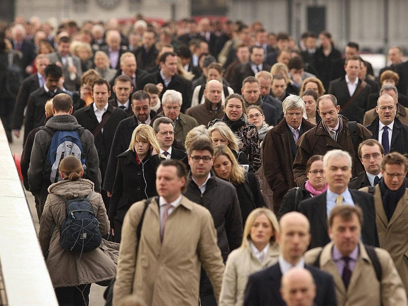 Back to the grind: Britons work on average 43 hours a week