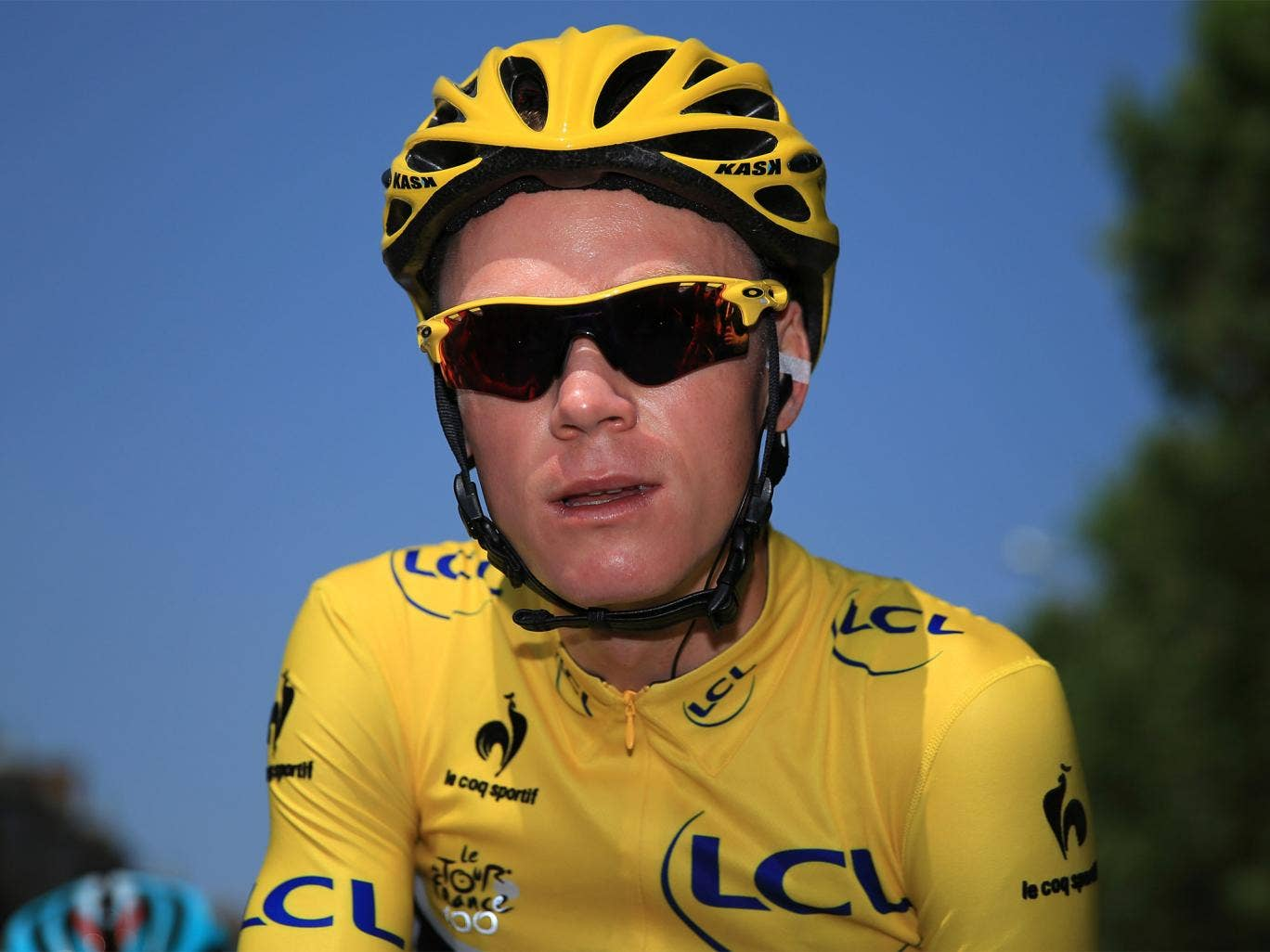 Chris Froome, Team Sky's leader, says he has recovered from a fall last month
