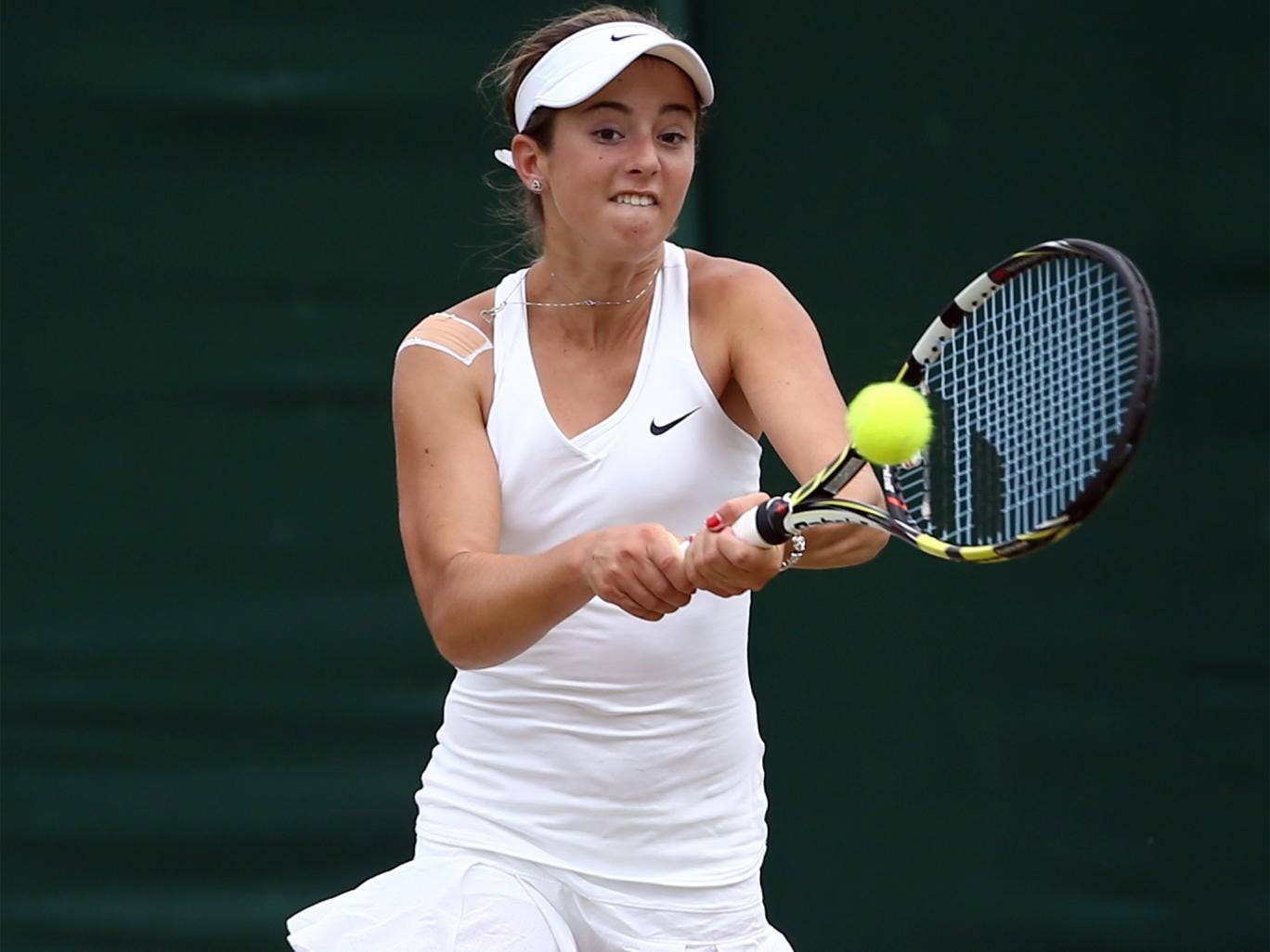 Maia Lumsden is through to the third round of the girls' singles