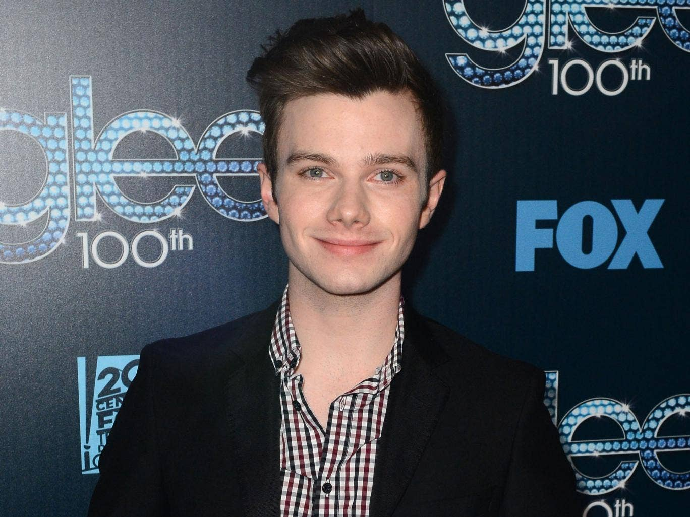 Actor Chris Colfer attends Fox's 'GLEE' 100th Episode Celebration held at Chateau Marmont on March 18, 2014 in Los Angeles, California.