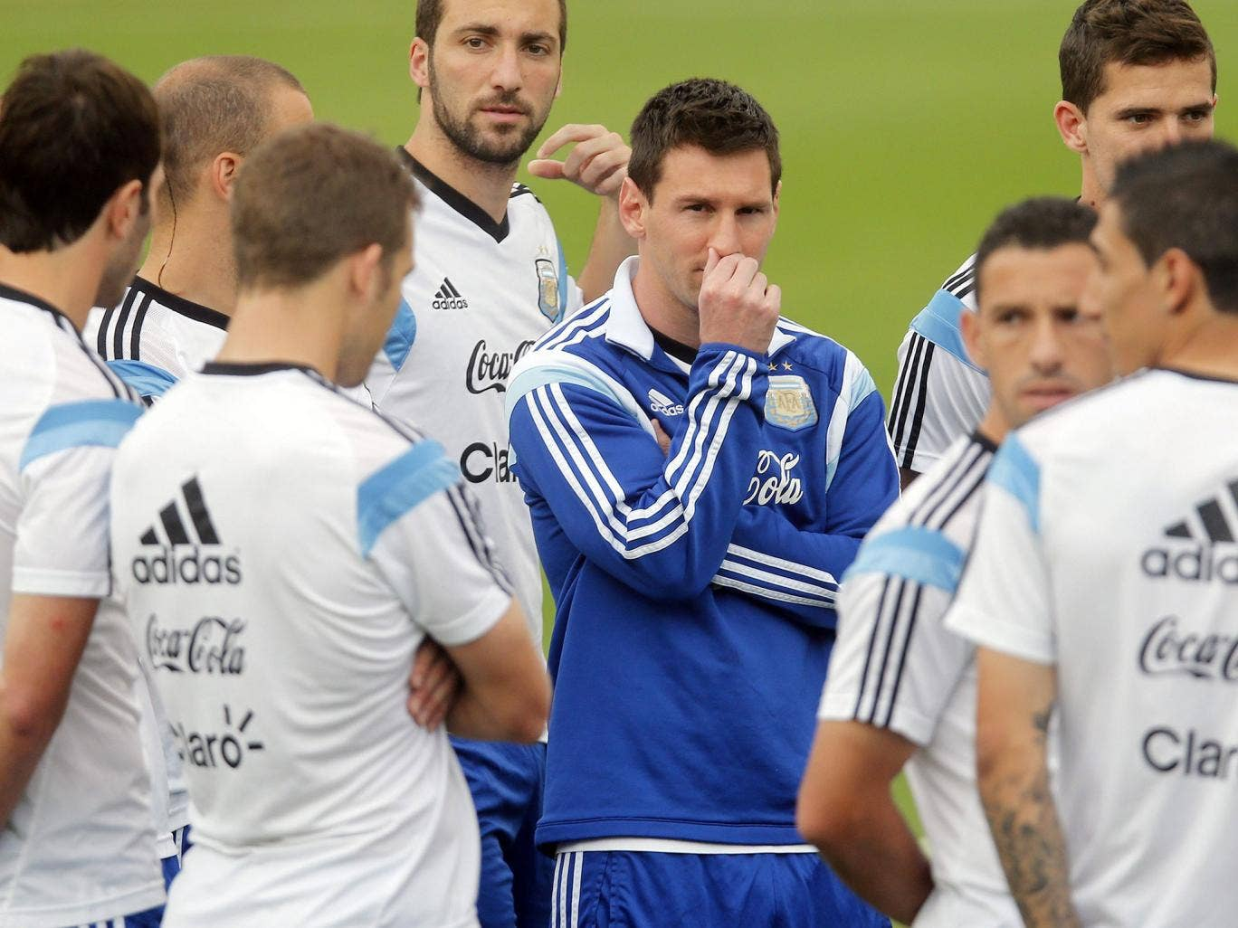 Lionel Messi (centre) must be wondering if his Argentina team-mates will take on the creative burden