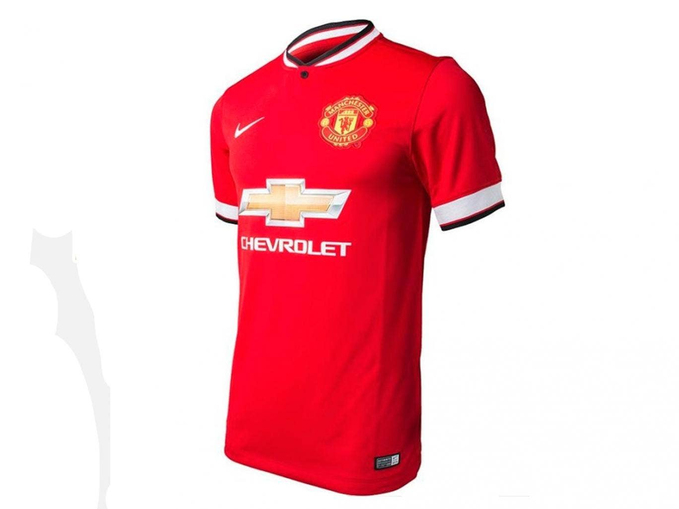 A leaked image purporting to be the new Manchester United shirt