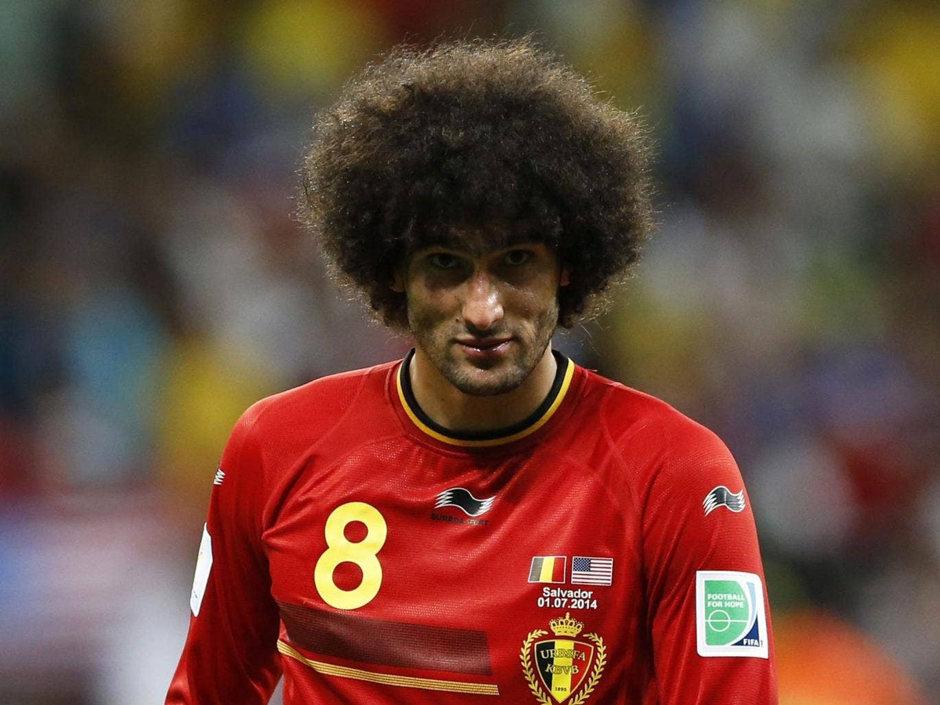 Marouane Fellaini has put his bad Old Trafford experience behind him at the  World Cup