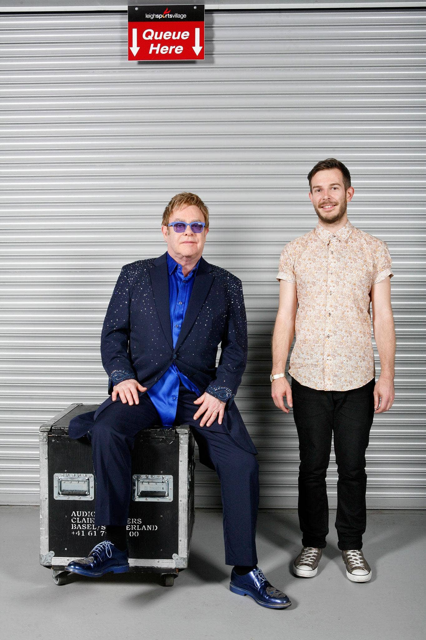 Elton John says of Thomas: 'He's a real character, a snappy dresser and is not afraid to send me up'