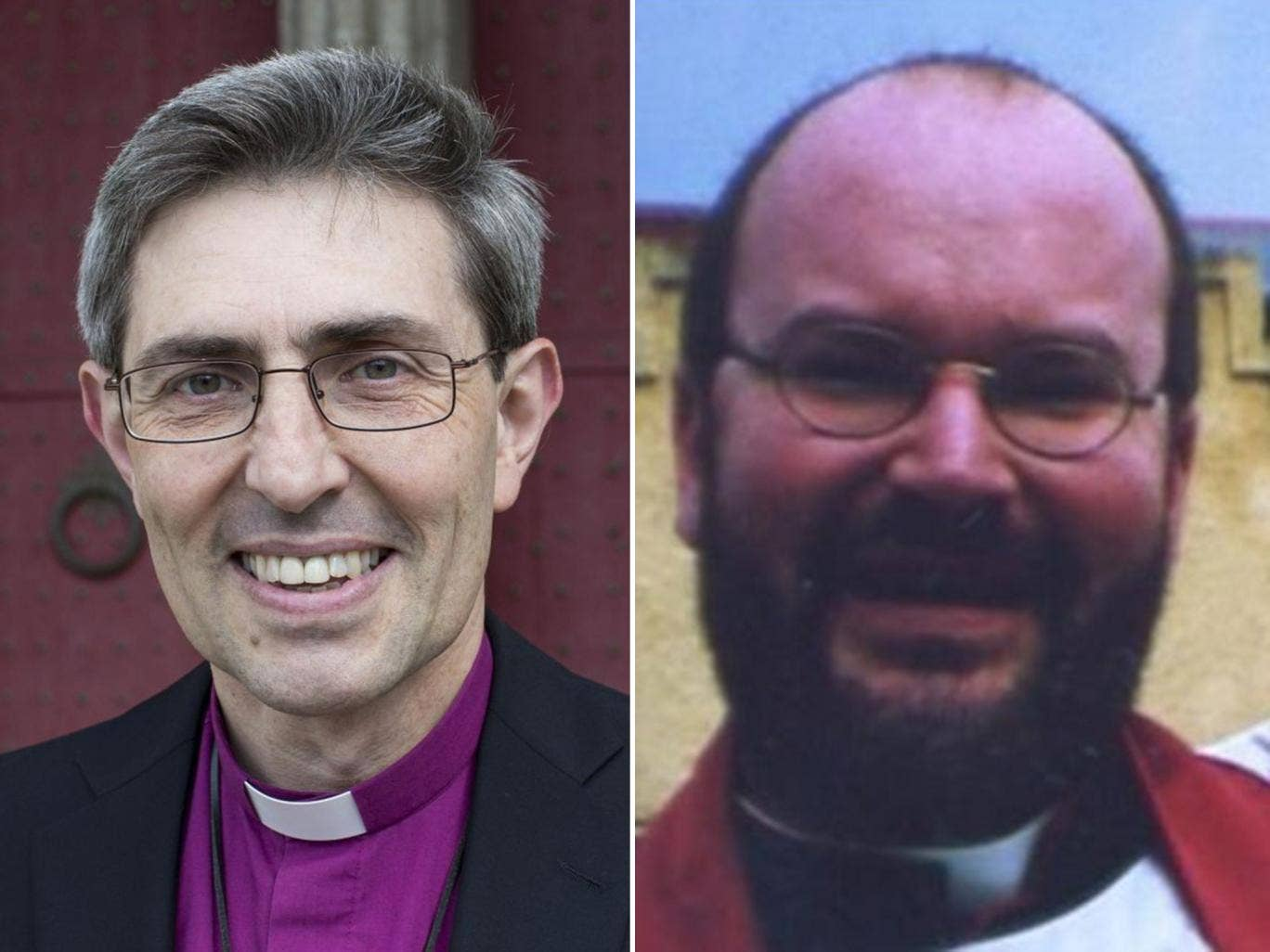 Church times: (left) The Rt Rev Tim Dakin, Bishop of Winchester and Andrew Hawthorne (right)