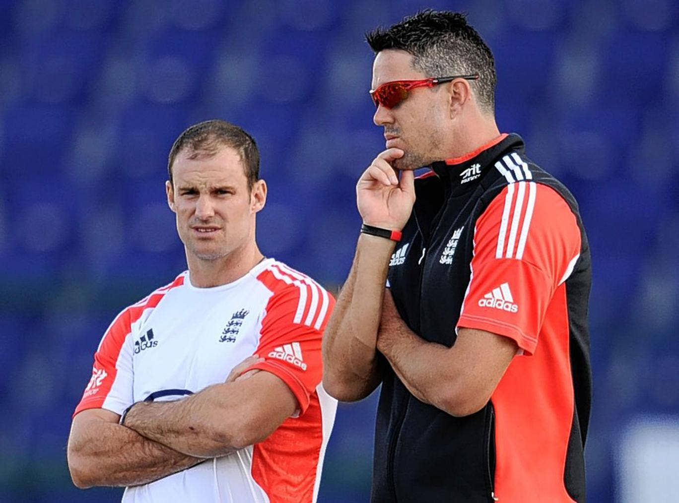 Andrew Strauss (left) is more unforgiving of Kevin Pietersen than in their playing days
