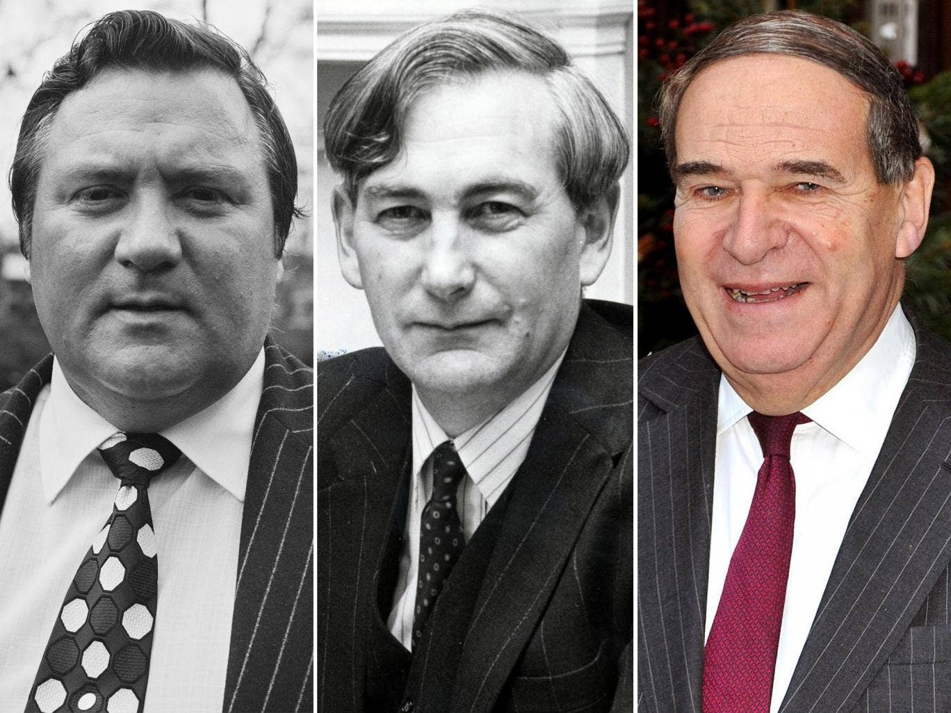 Former Conservative MP Geoffrey Dickens; former DPP Sir Thomas Hetherington; Leon Brittan