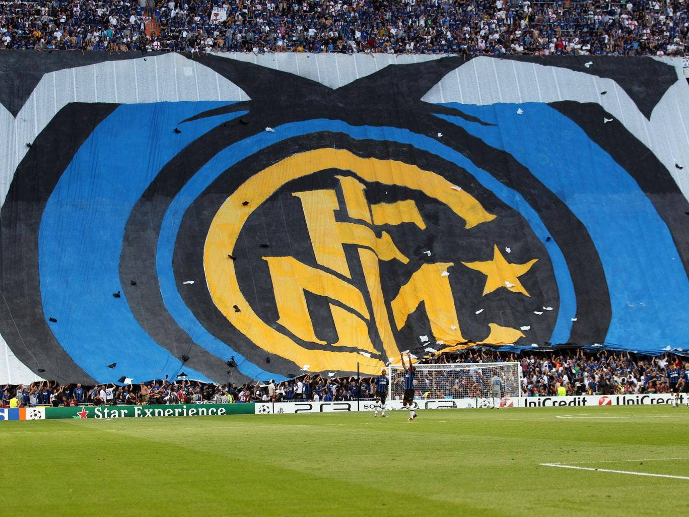 A general view of Inter Milan fans