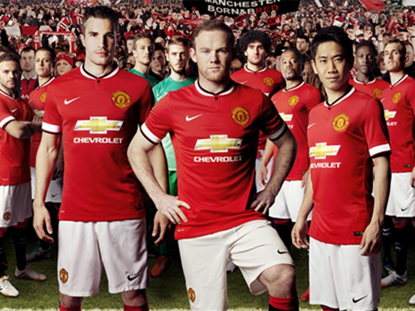 Manchester United's kit for the 2014/15 season