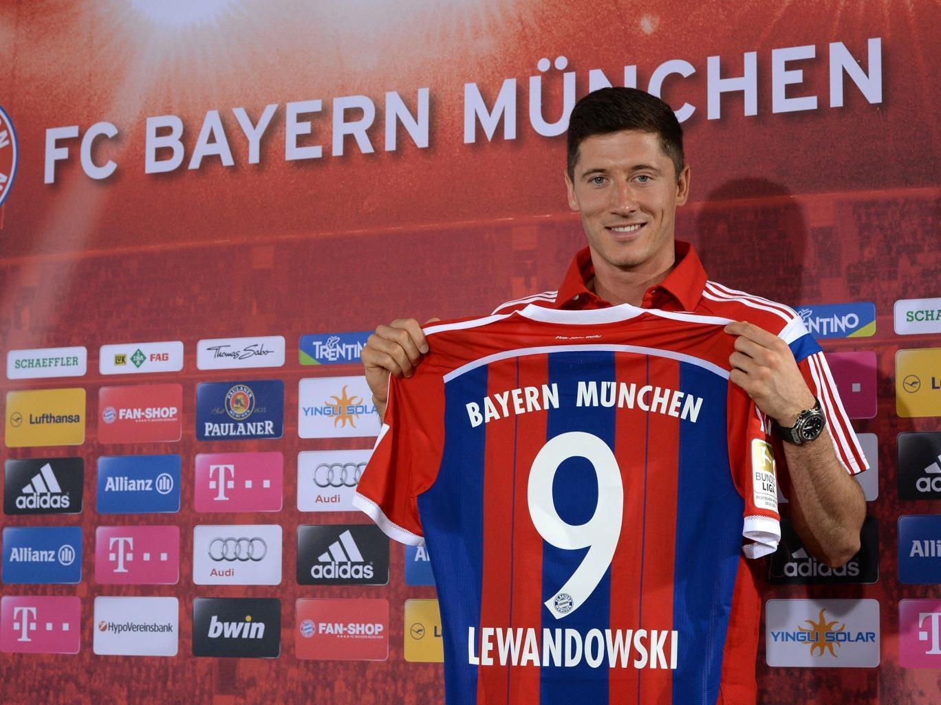 Robert Lewandowski has been unveiled at Bayern Munich
