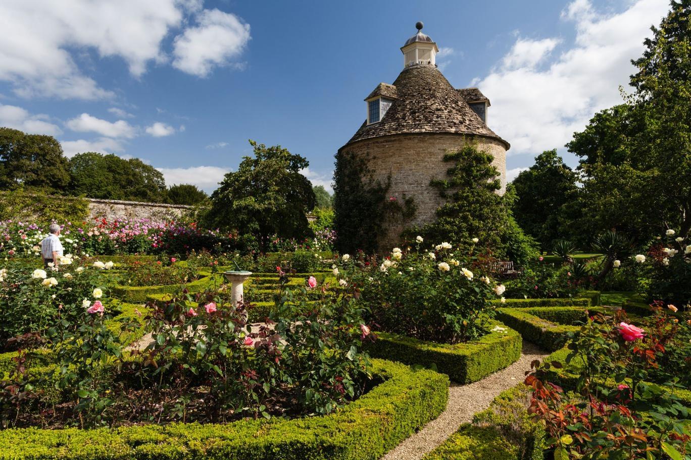 In full bloom: The Rose Parterre at Rousham House