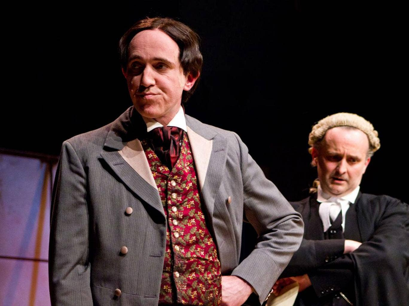 John Gorick as Wilde with William Kempsell in 'The Trials of Oscar Wilde'