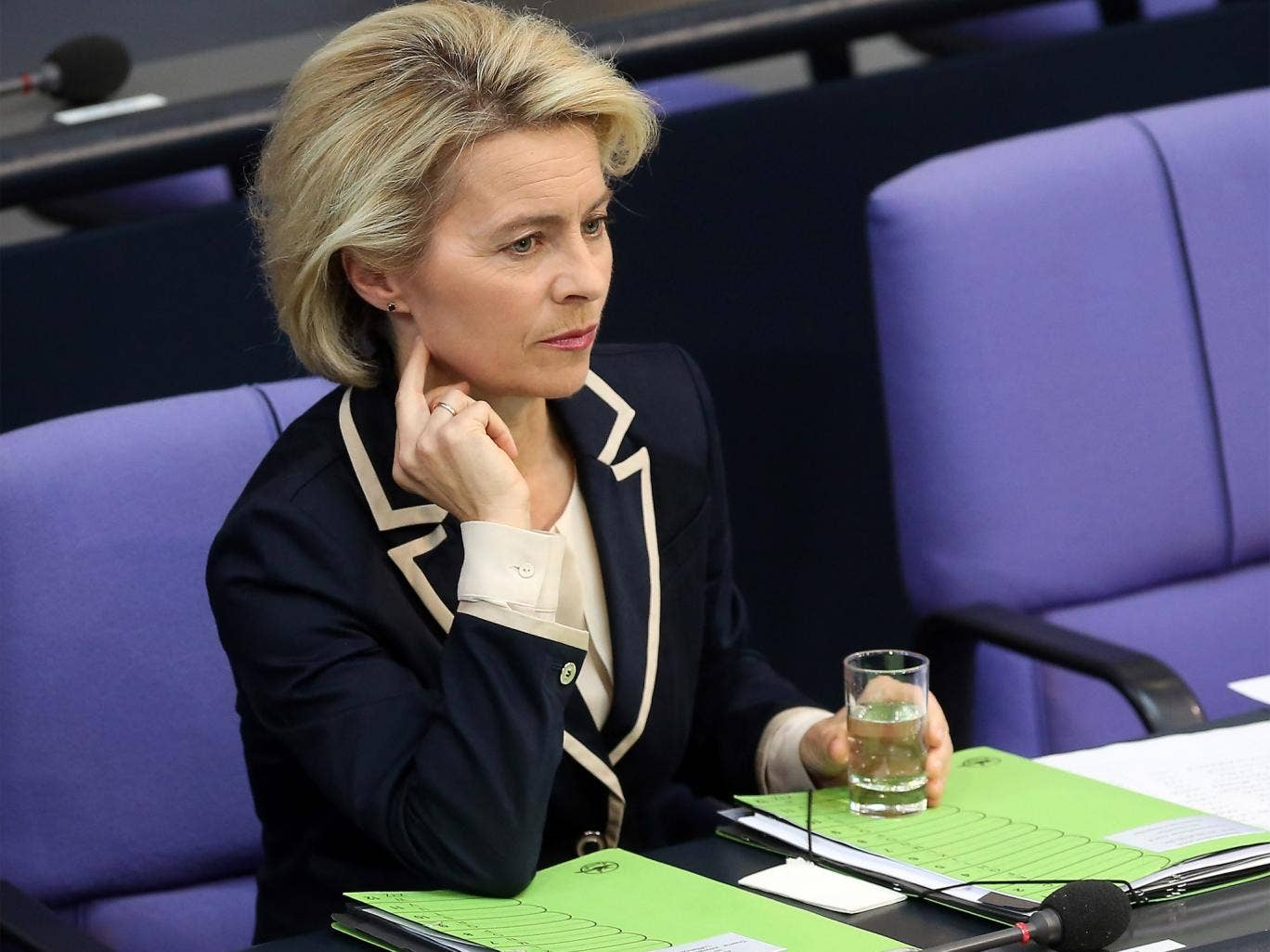 The German Defence Minister, Ursula von der Leyen