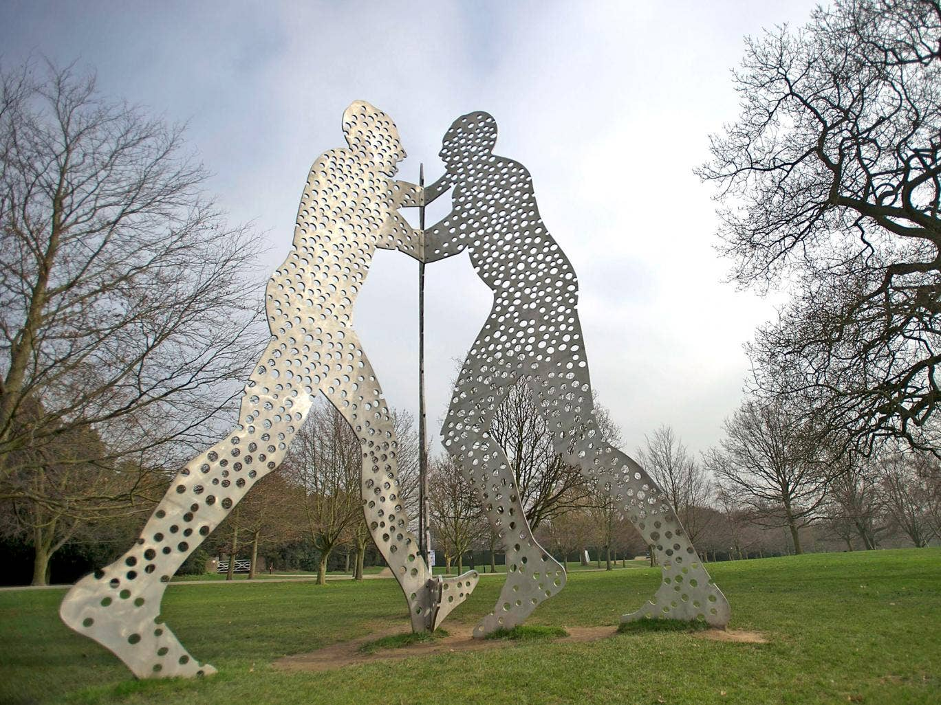 'Molecular Man +1+1+1' by Jonathan Borofsky at Yorkshire Sculpture park
