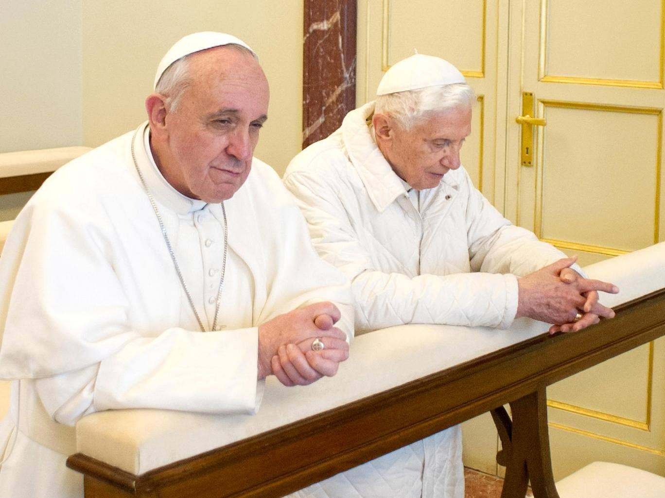 Popes current and former won't be watching the football together