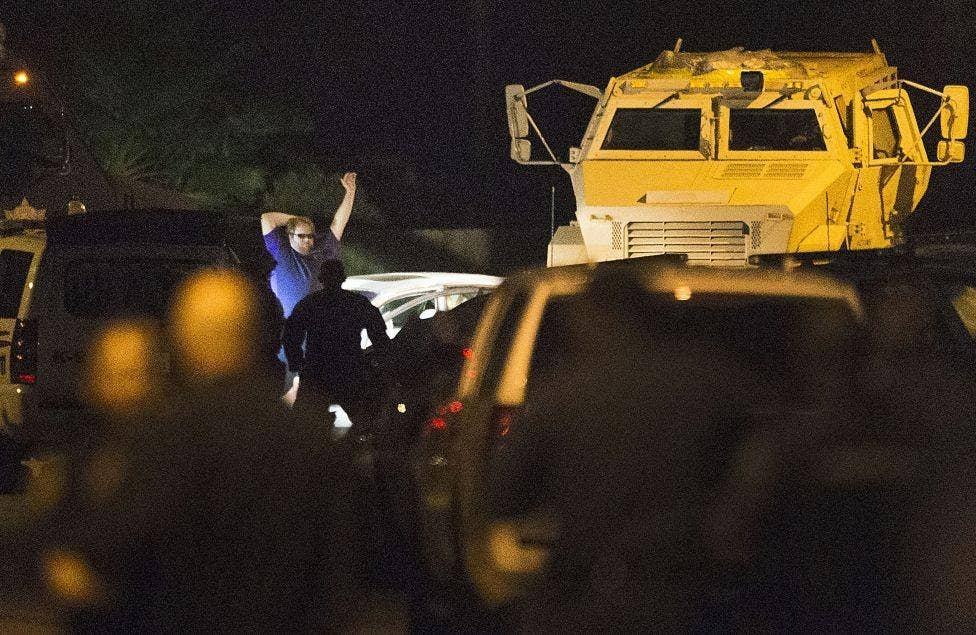 The moment police captured the suspected gunman in Spring, Texas