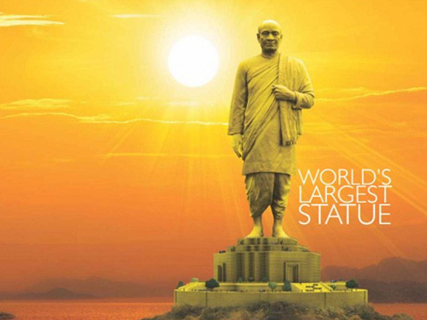The plan is to build the statue of in the state of Gujarat