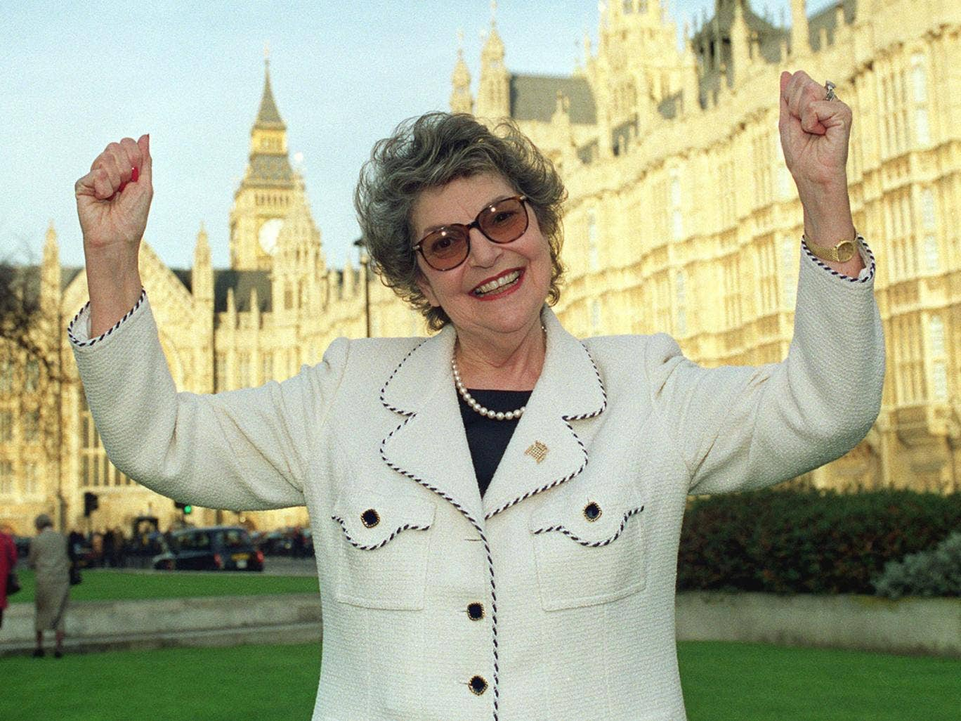 Baroness Miller in 1999; she was popular across the political divide in Westminster