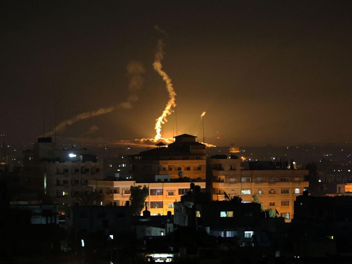 Smoke rises following an Israeli missile strike on Rafah