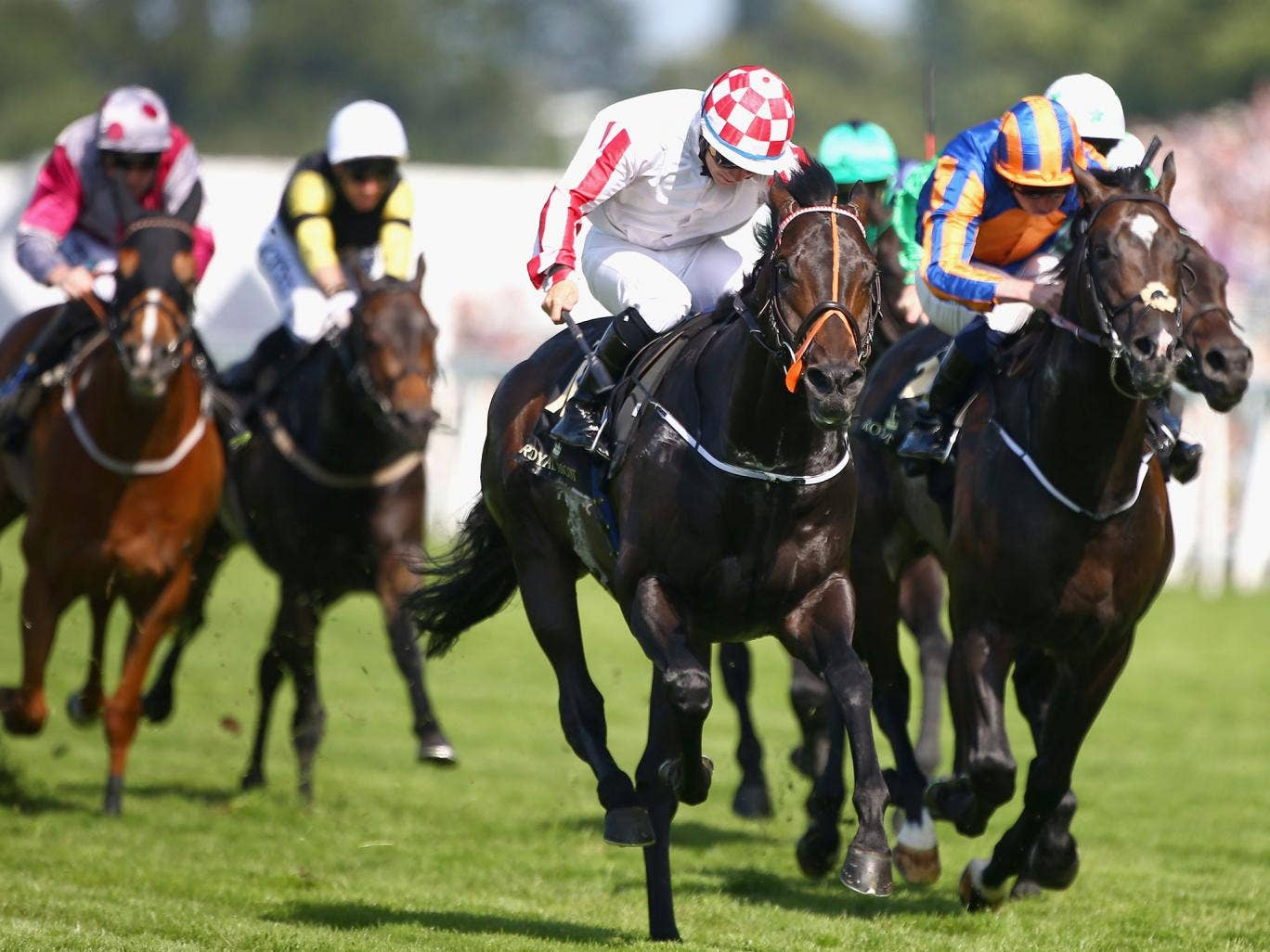 Slade Power (left) wins the Diamond Jubilee Stakes at Royal Ascot last month
