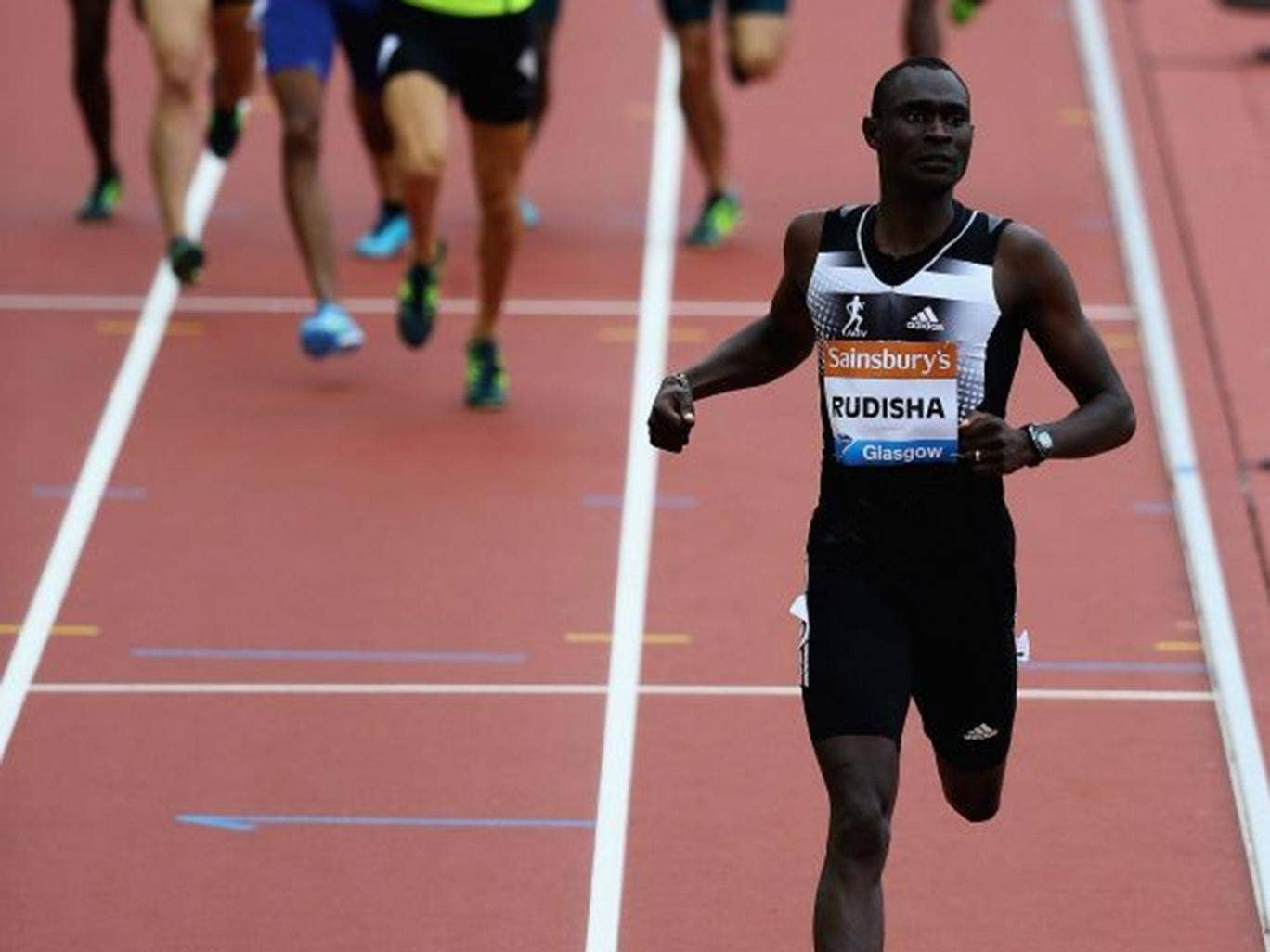 Rude awakening: After not running at all last year, David Rudisha was 2.5sec off his 2012 world record. But he still left the rest trailing in his wake