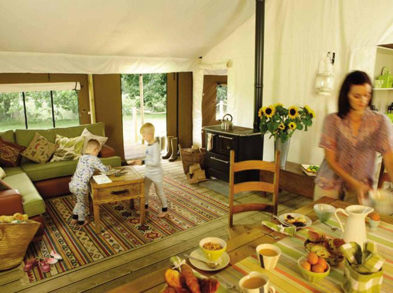 Child's play: the safari-style tents are ideal for families