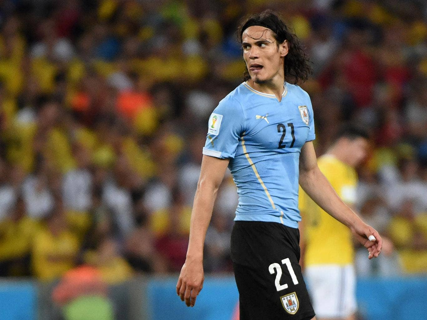 Uruguay striker Edinson Cavani could be on his way out of PSG after just one season
