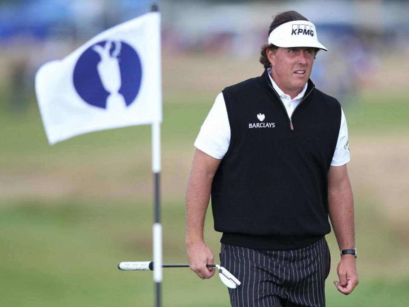 Defending Open champion Phil Mickelson has had a difficult year since his win at Muirfield