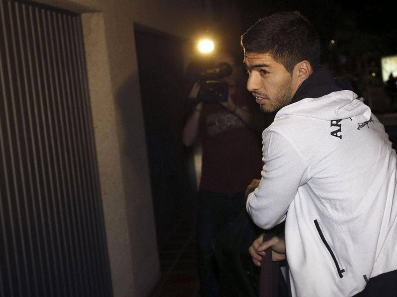 Luis Suarez arrived in Barcelona ahead of officially announcing his move to the club