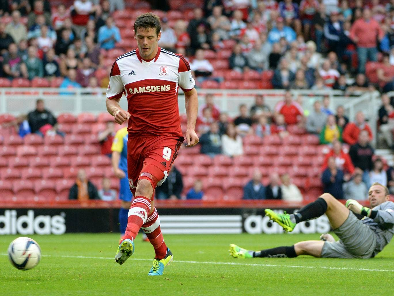 Jutkiewicz in action for Middlesbrough