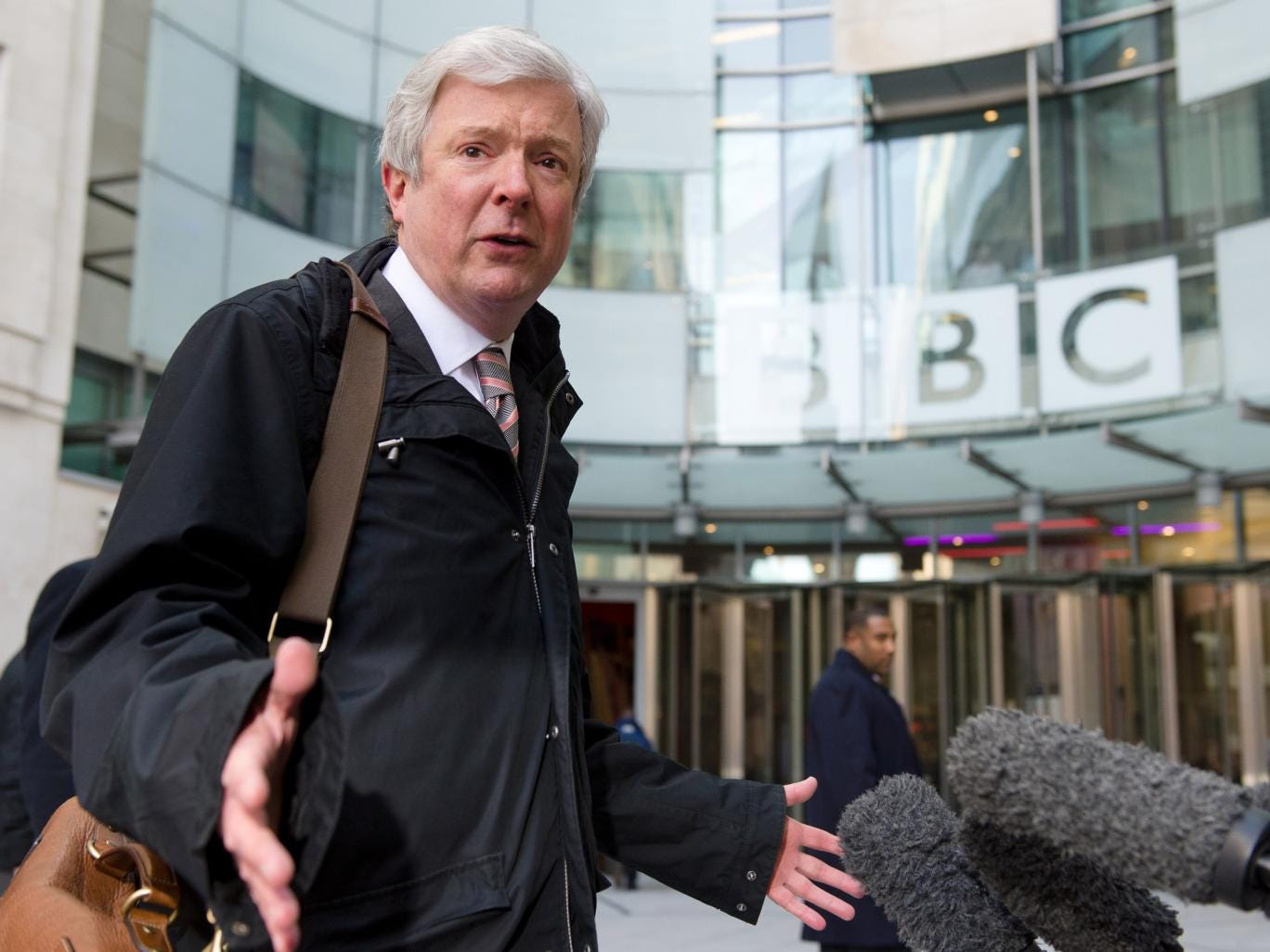 Tony Hall, Director General of the BBC, pictured outside New Broadcasting House last year