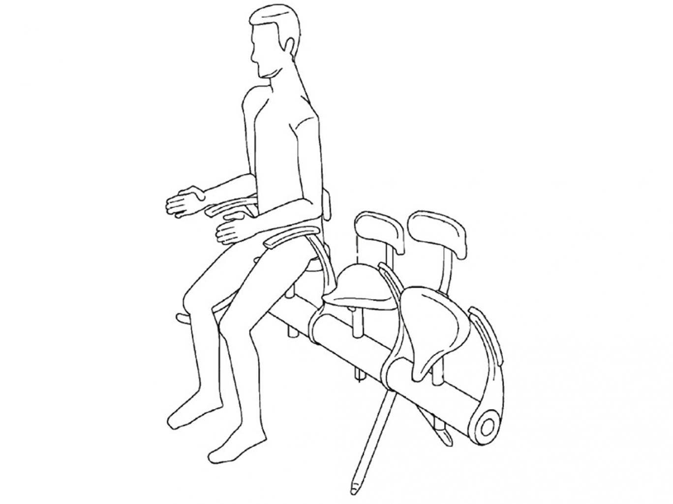 A diagram of the seat proposals from the Airbus patent application
