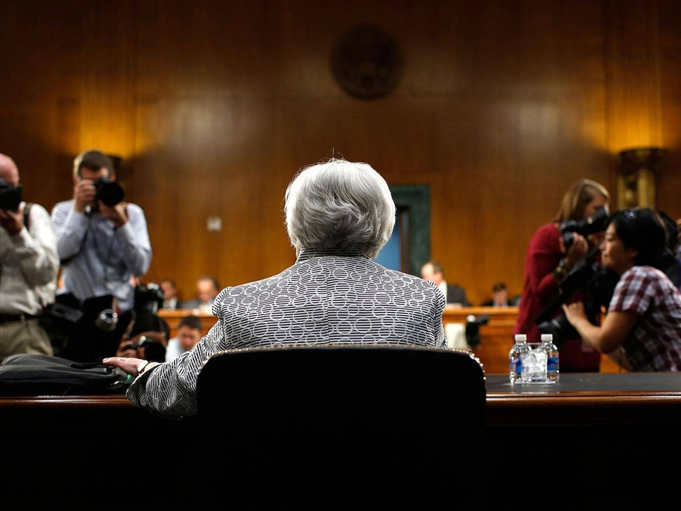 Speaking to a Senate committee hearing, the US Federal Reserve chief Janet Yellen warned of 'false dawns' for the American economy