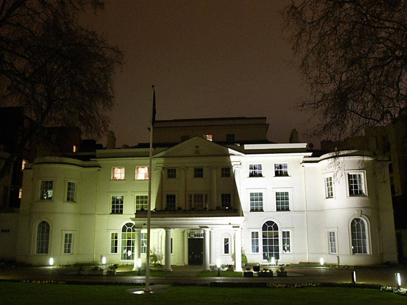 The Saudi Arabian embassy in London